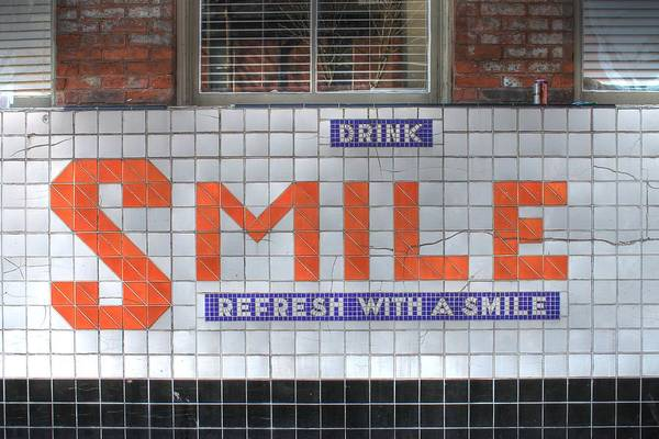 Wall Art - Photograph - Smile Sign Soda Soulard  Missouri Drink Refresh by Jane Linders