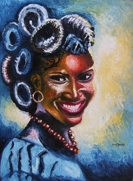 Nigeria Painting - Smiles by Olaoluwa Smith