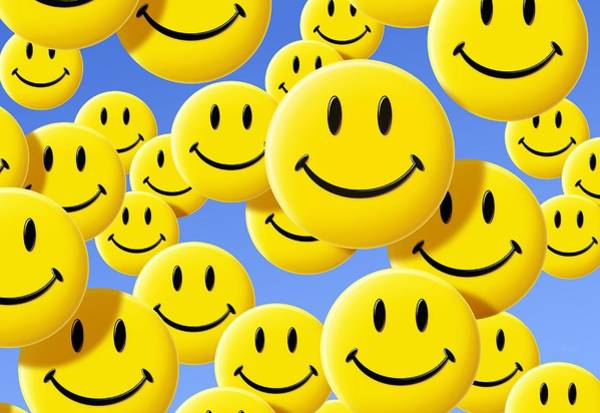 Smiley Face Wall Art - Photograph - Smiley Face Symbols by Detlev Van Ravenswaay