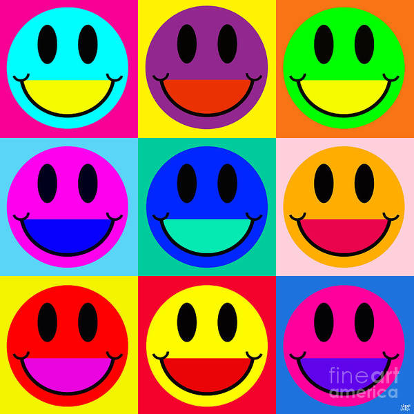 Revolting Digital Art - Smiley Two by Neil Finnemore
