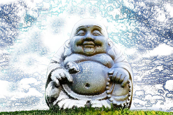 Respect Digital Art - Smiling Buddha by Brainwave Pictures