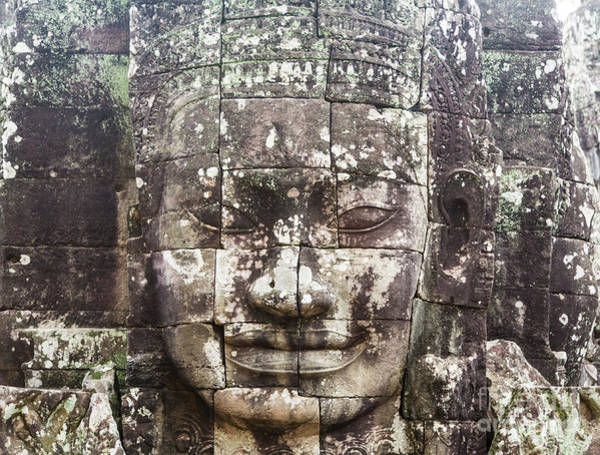 Photograph - Smiling Face In Angkor by Didier Marti