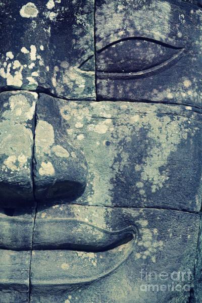 Photograph - Smiling Face Of Bayon Temple, Angkor Wat, Cambodia by Sam Antonio Photography
