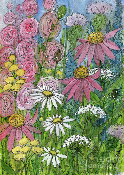Painting - Smiling Flowers by Laurie Rohner