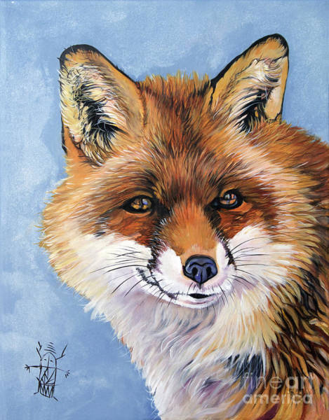 Painting - Smiling Fox by J W Baker