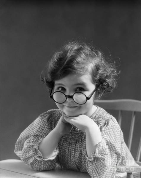 Photograph - Smiling Girl In Round Eyeglasses by H Armstrong Roberts ClassicStock