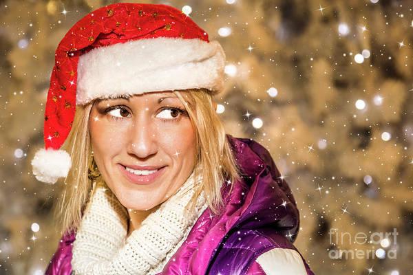 Photograph - Smiling Santa Woman by Benny Marty