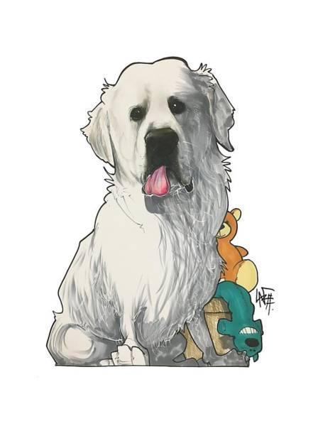 Pet Portrait Drawing - Smith 3174 by John LaFree