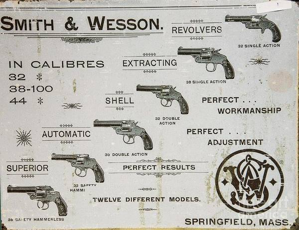 Wesson Photograph - Smith And Wesson Beats Four Aces by David Bearden