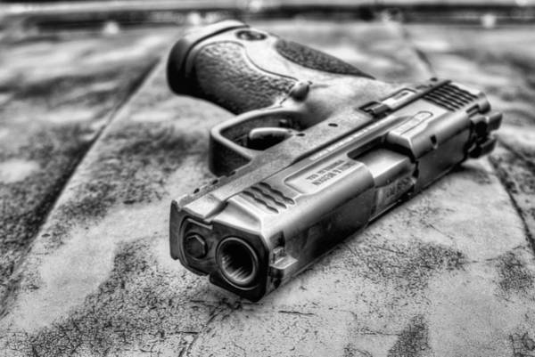 Wesson Photograph - Smith And Wesson Black And White by JC Findley