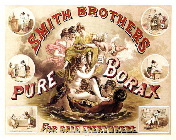 Wall Art - Mixed Media - Smith Brothers Pure Borax - Cleaner, Soap - Vintage Advertising Poster by Studio Grafiikka