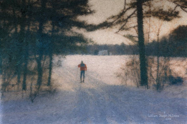 Painting - Smith Farm Skier by Bill McEntee