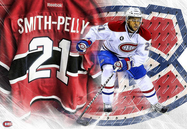 Montreal Canadiens Digital Art - Smith-pelly Poster Print by Nicholas Legault