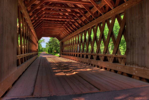 Photograph - Smith Rapids Bridge Lattice Trusses by Dale Kauzlaric