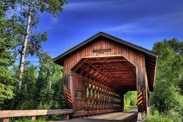 Photograph - Smith Rapids Bridge Under Blue Skies by Dale Kauzlaric