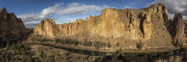 Smith Rock And Crooked River Panorama Art Print
