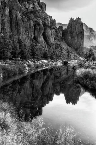 Photograph - Smith Rock Morning Glow Bw by Belinda Greb