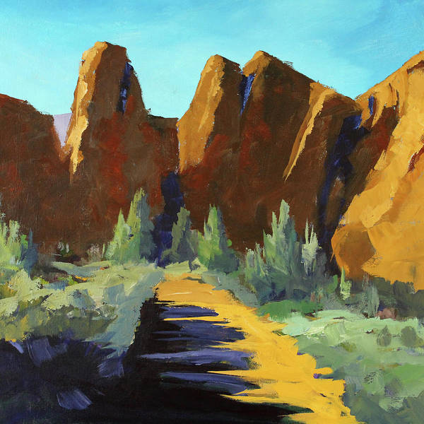 Smith Rock Painting - Smith Rock by Nancy Merkle
