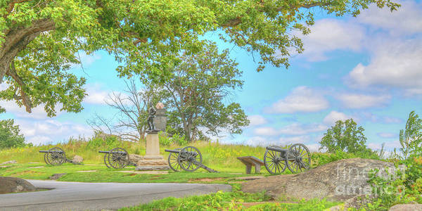 Artillery Digital Art - Smiths Battery Devils Den Gettysburg by Randy Steele