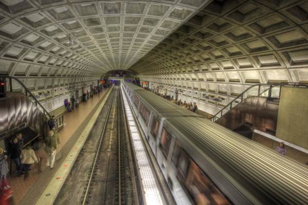 Smithsonian Photograph - Smithsonian Metro Station by Shelley Neff
