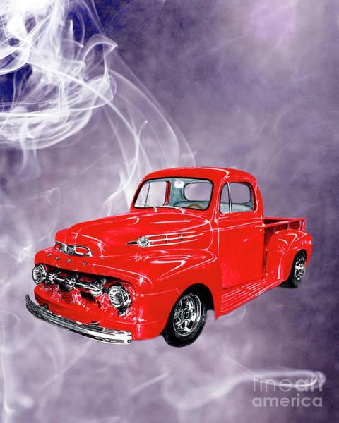 Wall Art - Drawing - Smok N Hot 52 Ford F 100 by Jack Pumphrey