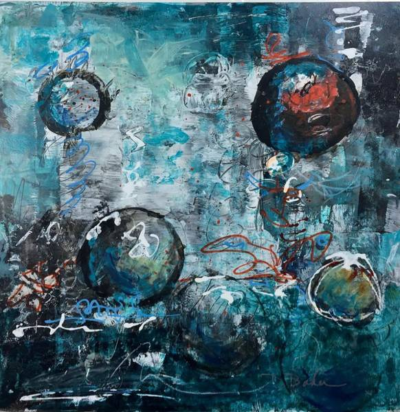 Wall Art - Painting - Smoke And Mirrors by Dolores Baker