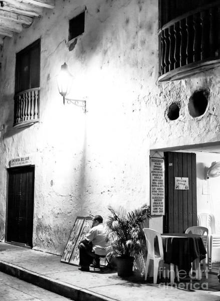 Photograph - Smoke Break In Cartagena by John Rizzuto