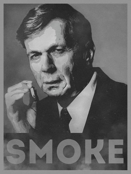 Parody Wall Art - Digital Art - Smoke Funny Obama Hope Parody Smoking Man by Philipp Rietz