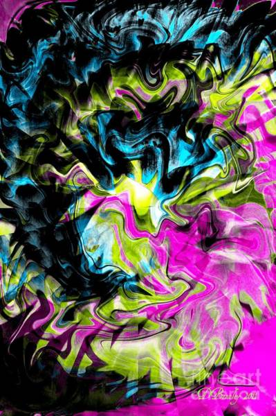 Digital Art - Smoke Gets In Your Eyes by Donna Bentley