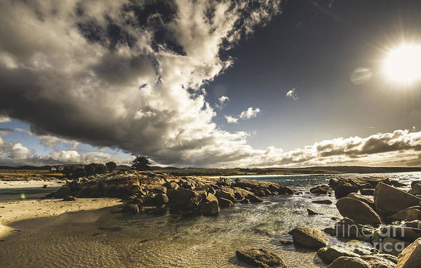 The Grey Photograph - Smoke Like Clouds On The Bay Of Fires by Jorgo Photography - Wall Art Gallery