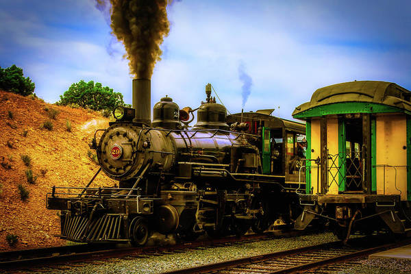 Gay Flag Photograph - Smoke Stack Steam Train by Garry Gay