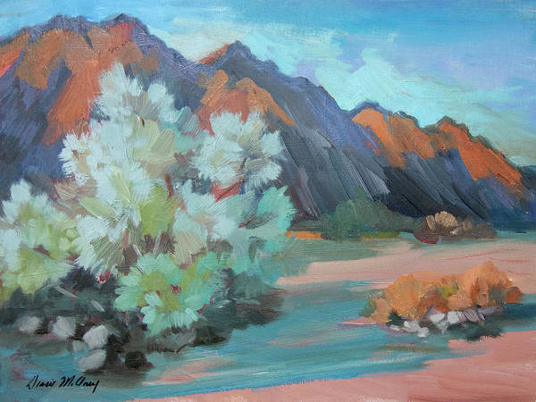Wall Art - Painting - Smoke Tree At Box Canyon by Diane McClary