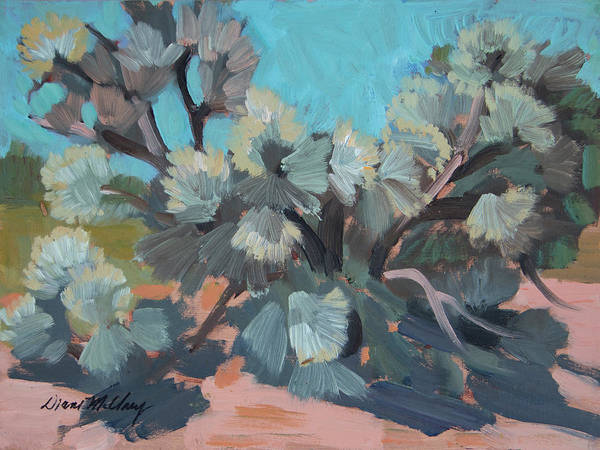 Wall Art - Painting - Smoke Tree At Santa Rosa Mountains by Diane McClary