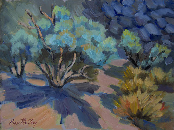 Wall Art - Painting - Smoke Tree In La Quinta Cove by Diane McClary