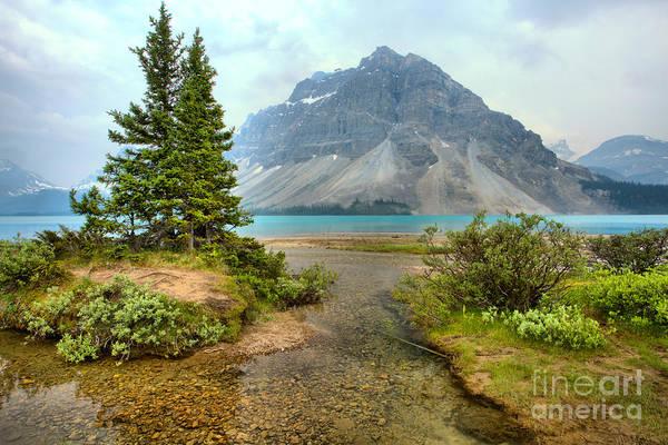 Photograph - Smokey Bow Lake Scene by Adam Jewell