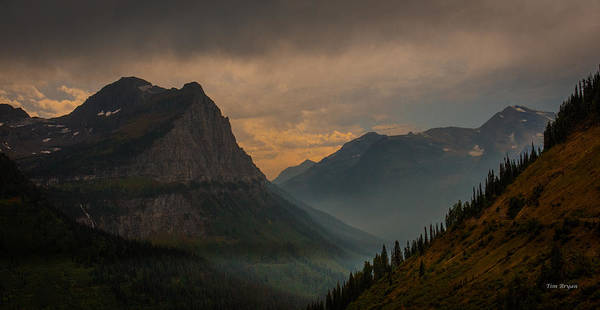 Photograph - Smokey Evening At  Logan Pass by Tim Bryan