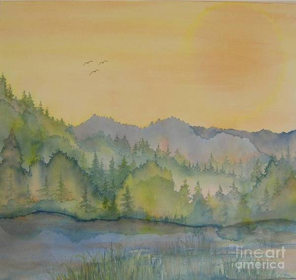Wall Art - Painting - Smokey Mountain Memories 4 by Lisa Bell
