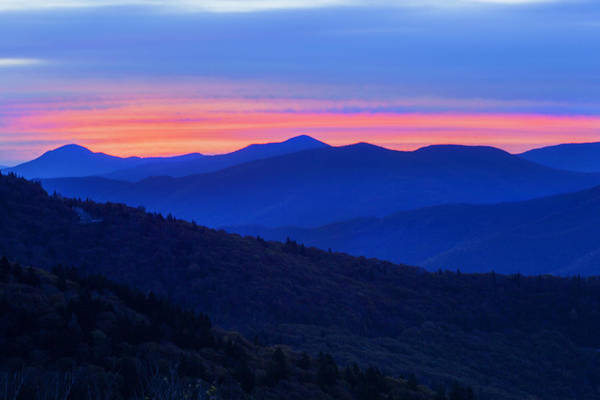 Photograph - Smokey Mountain Sunset by CA  Johnson
