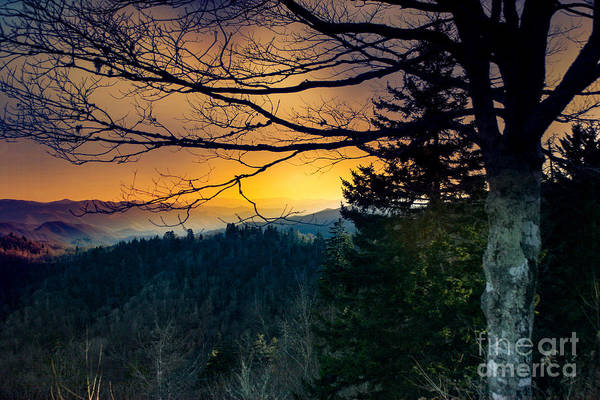 Photograph - Smokey Mountain Sunset by Mechala Matthews