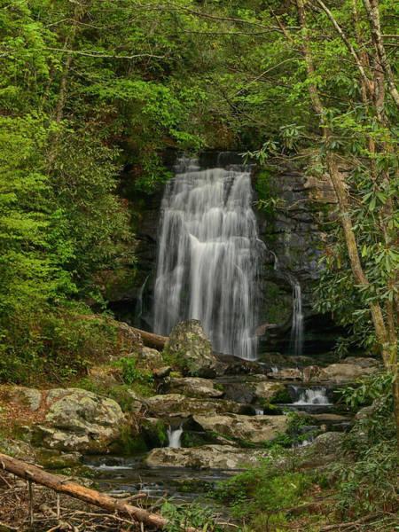 Wall Art - Photograph - Smokey Mountain Waterfall by Ann Keisling