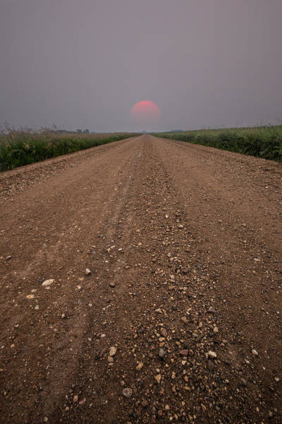 Gravel Road Photograph - Smokey Road To Nowhere by Aaron J Groen