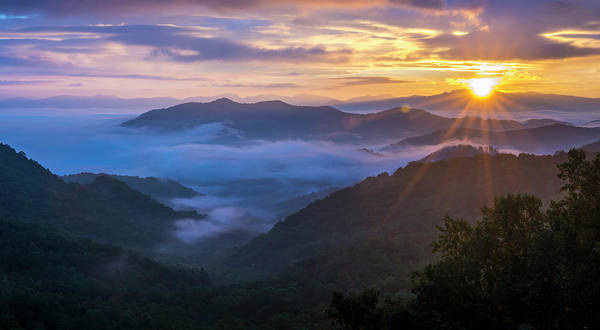 Photograph - Smokey Sunrise by David Morefield