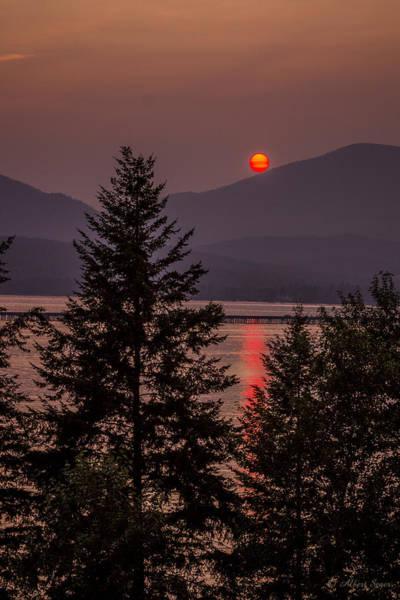 Photograph - Smokey Sunset by Albert Seger