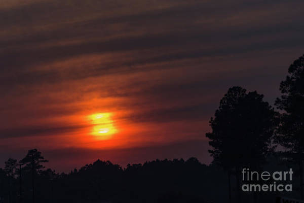 Photograph - Smokey Sunset-1 by Charles Hite