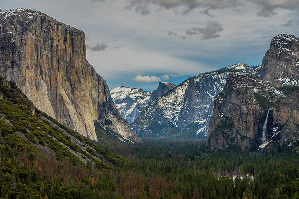 Smokey Yosemite Valley Art Print