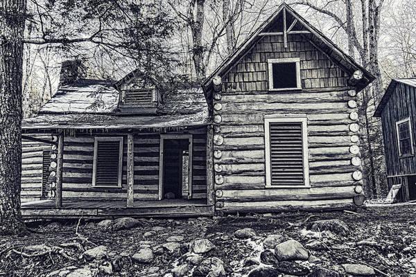 Photograph - Smokies Log Cabin by Sharon Popek