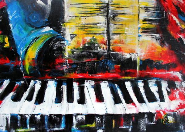 Sax Painting - Smokin Ivory II by Cheryl Ehlers