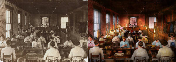 Photograph - Smoking - Cigar - Hand Rolled Cigars 1909 - Side By Side by Mike Savad
