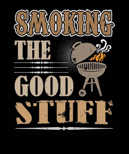Cookout Digital Art - Smoking The Good Stuff Bbq Grill Meat by Passion Loft
