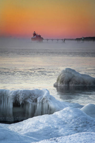 Photograph - Smoky Lighthouse by David Heilman